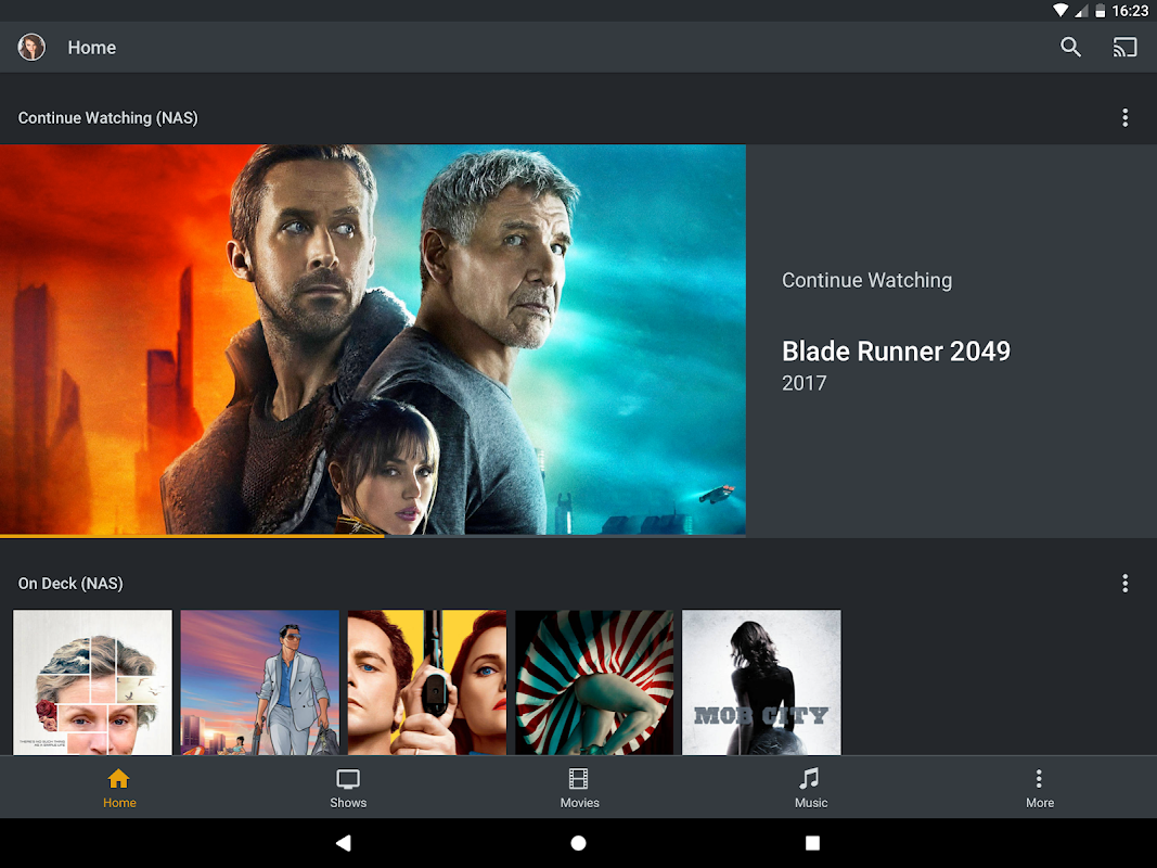 Android Plex Screen 6