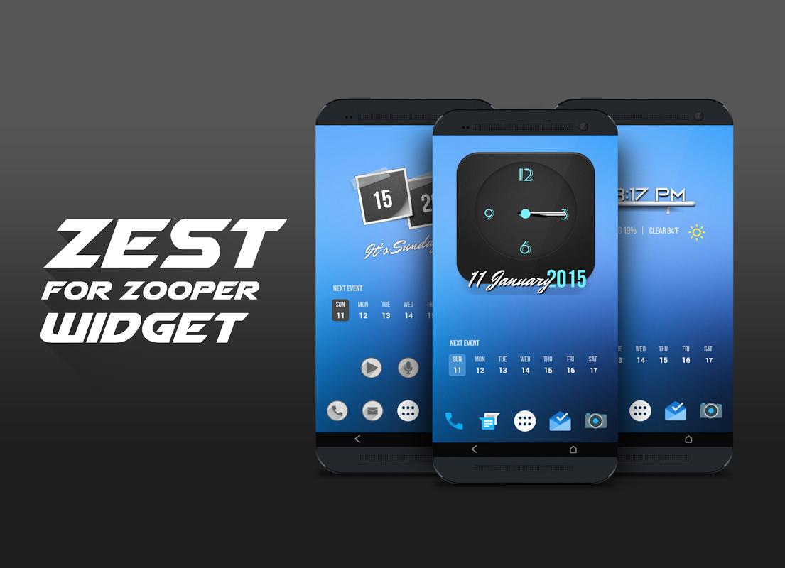 Zest For Zooper Widget APKs | Android APK