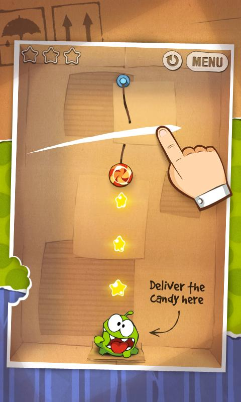 Android Cut the Rope FULL FREE Screen 1