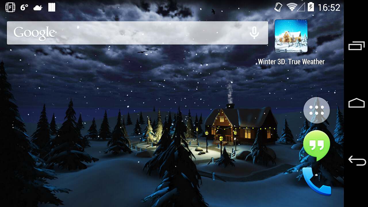 Android Winter 3D, True Weather Screen 7