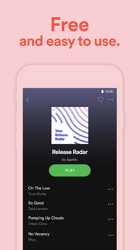 Android Spotify Music Screen 6