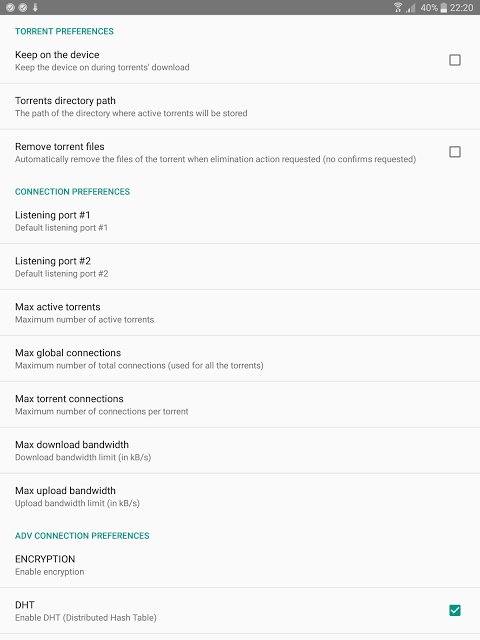 Android Torrent Downloader Screen 12