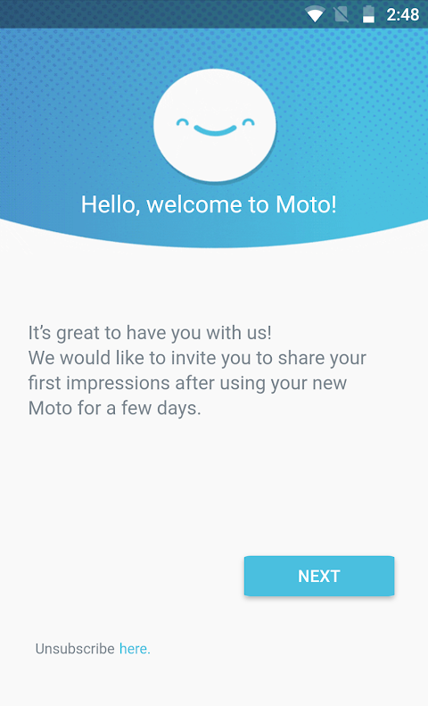 Android Motorola Notifications Screen 1