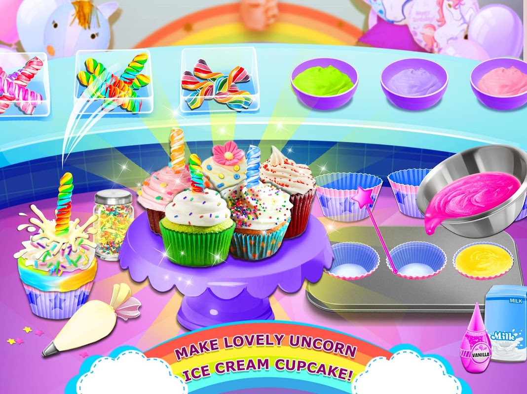 Rainbow Ice Cream - Unicorn Party Food Maker 1.0 Screen 2