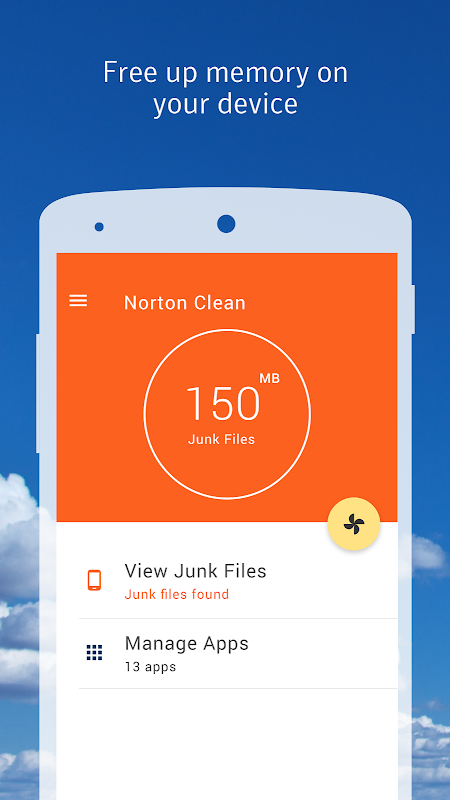 Norton Clean, Junk Removal 1.4.2.67 Screen 1