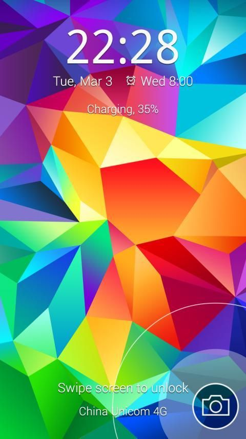 Android S5 Particle Locker Screen 2