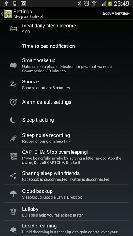 Android Sleep as Android Screen 12