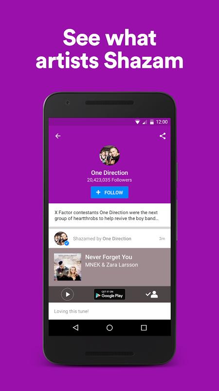 Android Shazam Screen 7