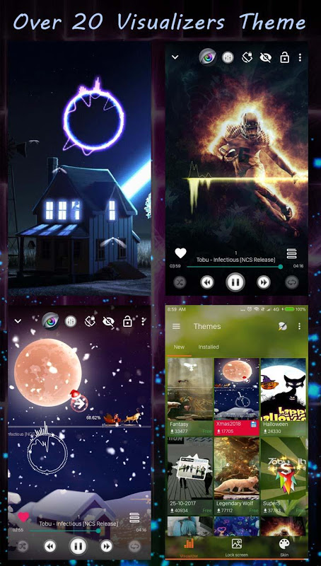 Android S+ Music Player 3D - Premium Screen 2