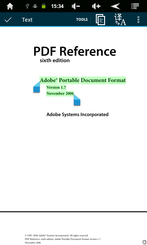 Android PDF and DJVU Reader Screen 12