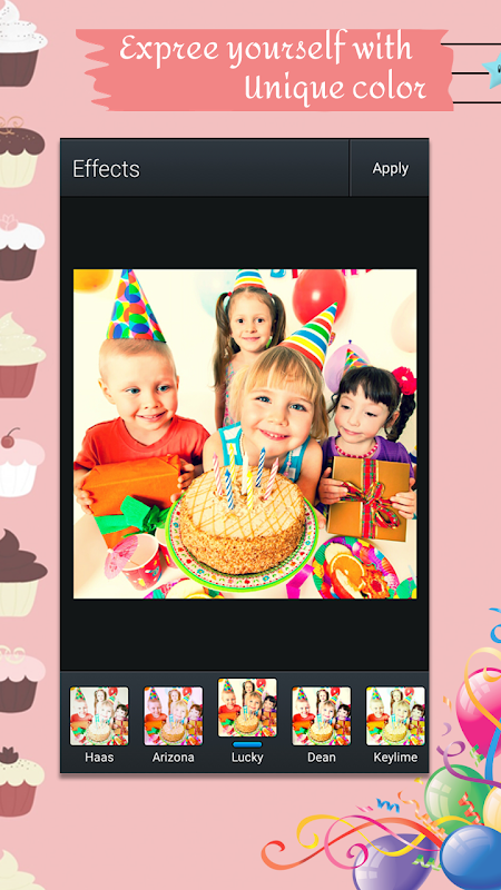 Android Birthday Photo Poster Collage Screen 1