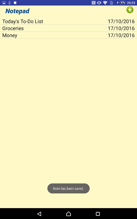 Notepad 1.6 Screen 9
