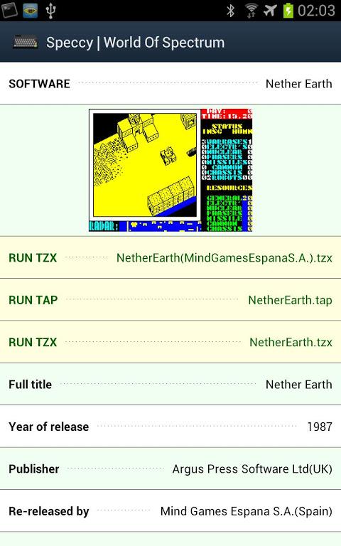 Speccy - ZX Spectrum Emulator 3.3.3 Screen 23