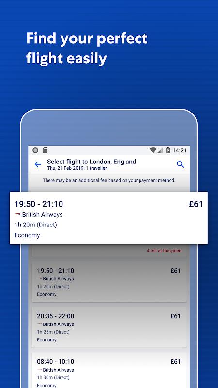Expedia Hotels, Flights, Car Hires & Activities 19.7.1 Screen 3