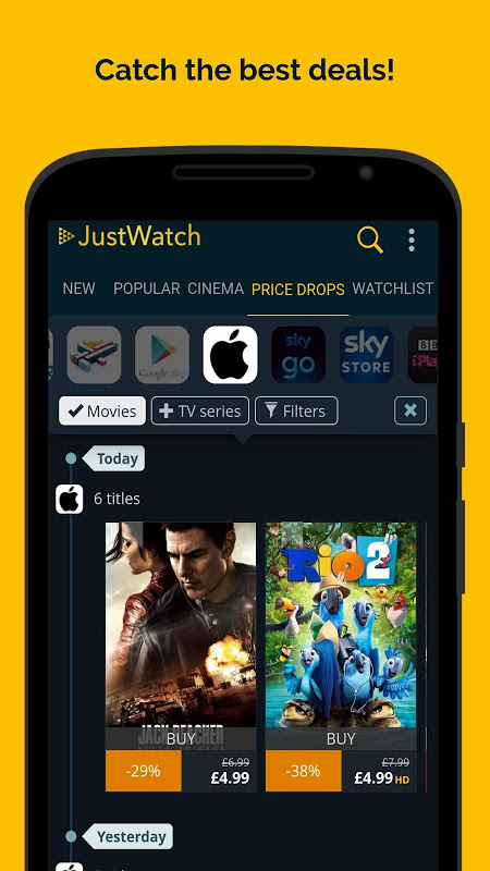 JustWatch - Search Engine for Streaming and Cinema 0.24.58 Screen 6