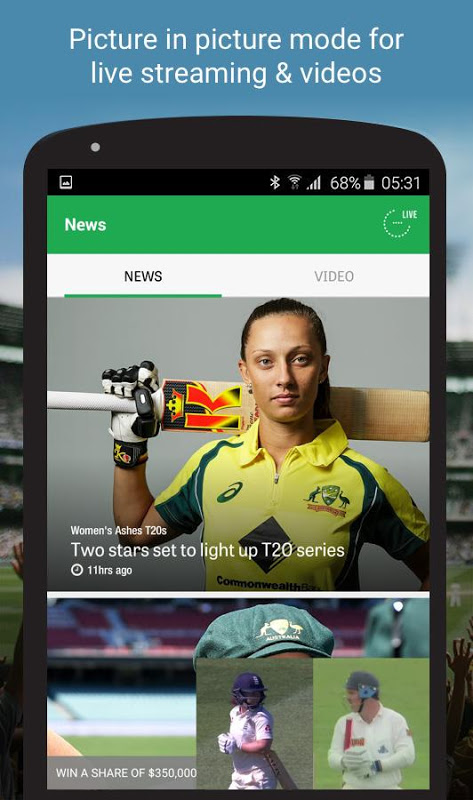 Android Cricket Australia Live Screen 7