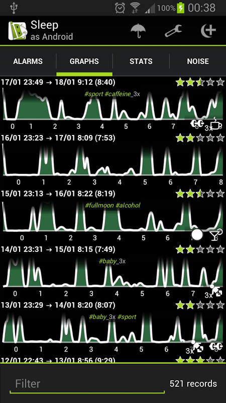Android Sleep as Android Screen 4