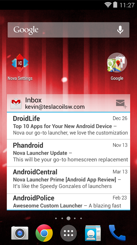 Nova Launcher 4.3.1 Screen 1