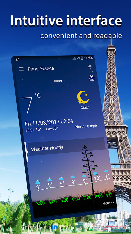 Android Weather radar Screen 2