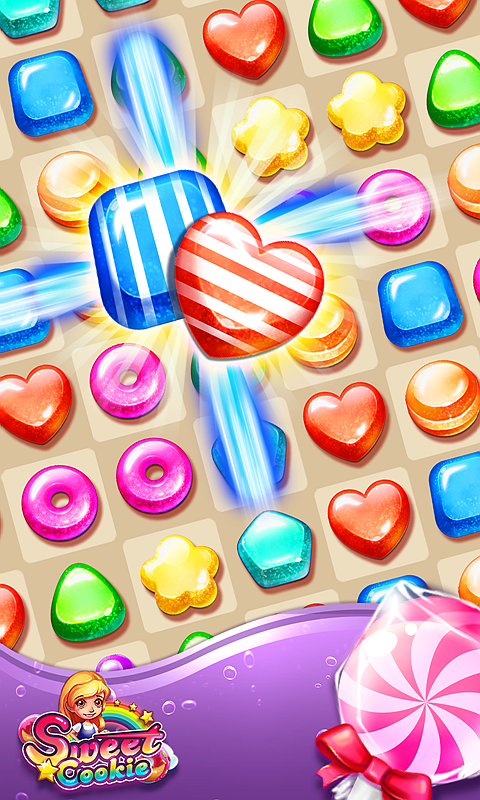 Sweet Cookie -2019 Puzzle Free Game 1.1.7 Screen 1