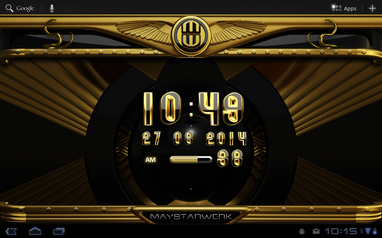Android Gold Snake Clock widget Screen 9