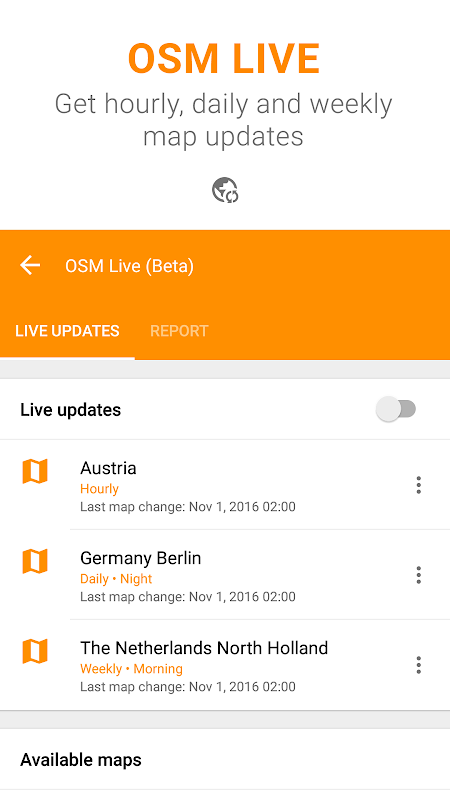 Android Maps & GPS Navigation OsmAnd+ Screen 8