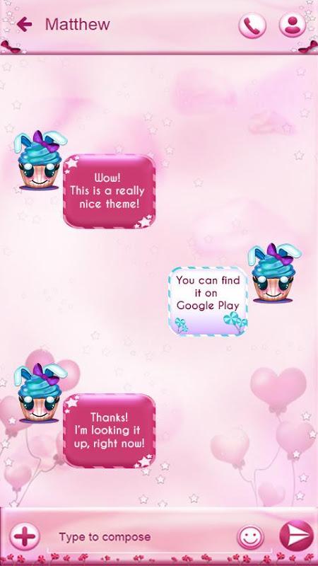Cute Cupcakes SMS 1.187.1.102 Screen 1
