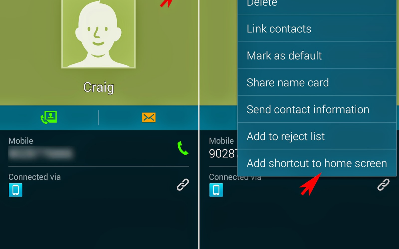 Android Contacts Screen 1