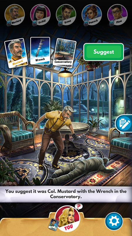 Android Cluedo Screen 2