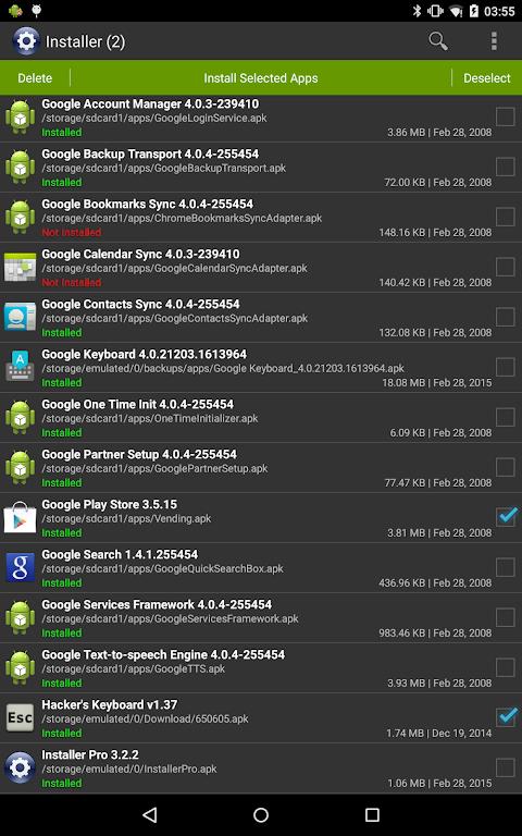 Installer Pro 3.4.2 Screen 7