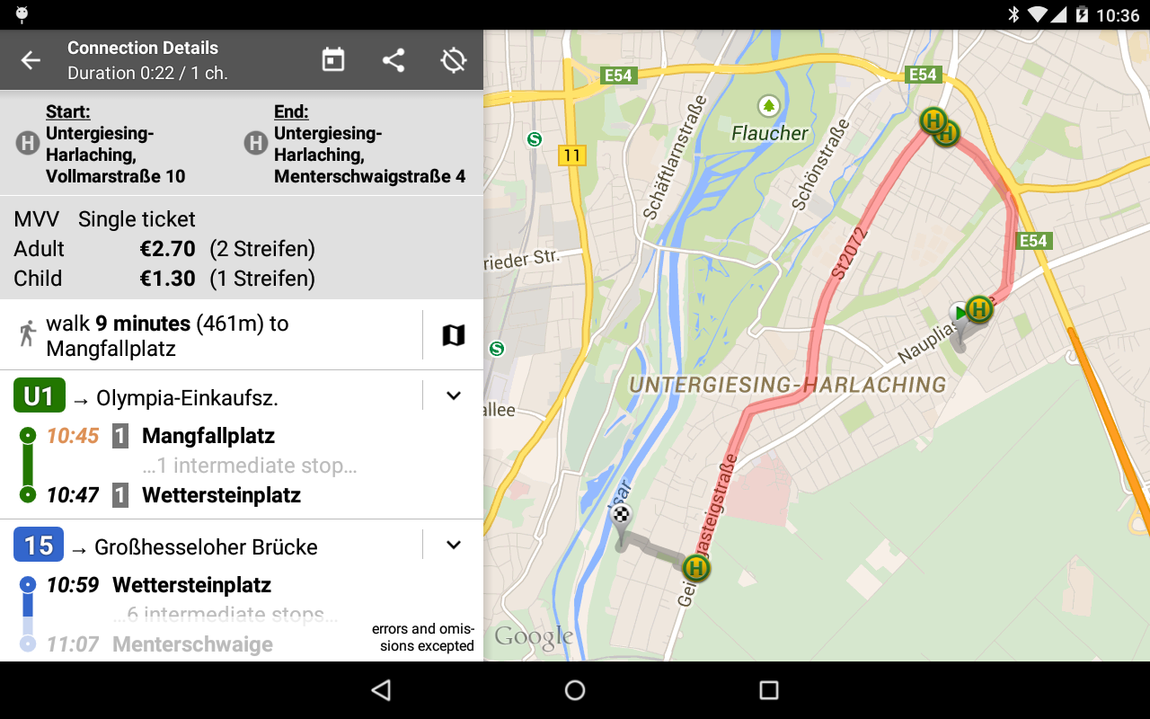 Offi - Journey Planner 10.1.4-google Screen 3