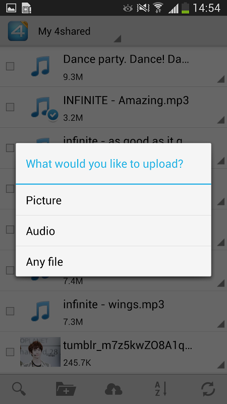 Android 4shared PRO:download any files Screen 2