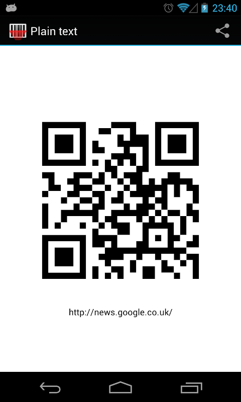 Android Barcode Scanner Screen 3