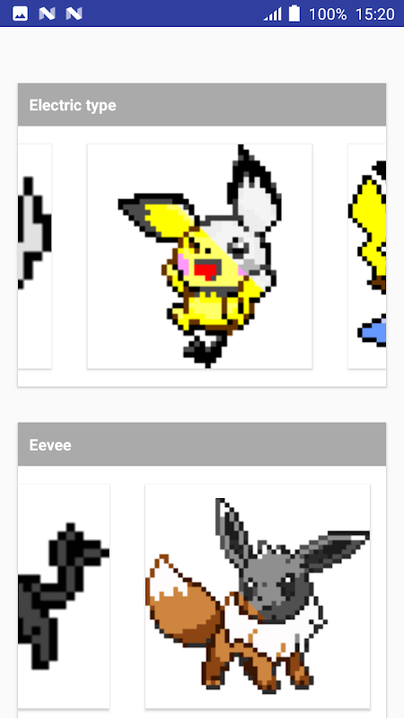 Android Color by Number Pokemon Pixel Art Screen 7