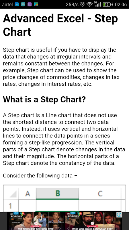 Learn Advance Excel Charts 1.0.0 Screen 1