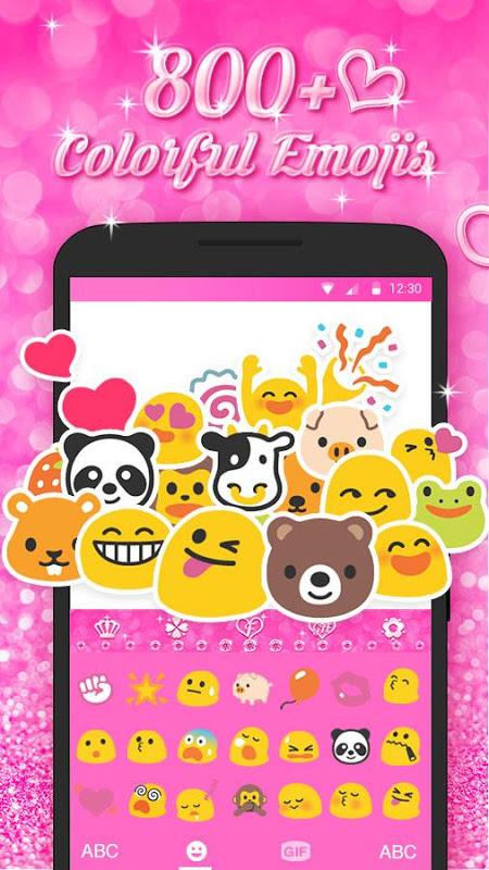 Best Keyboard Theme - Free Pink Love Emoji & Gif 2.0.0 Screen 1