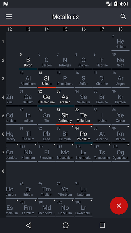 Android Periodic Table 2018 Screen 5