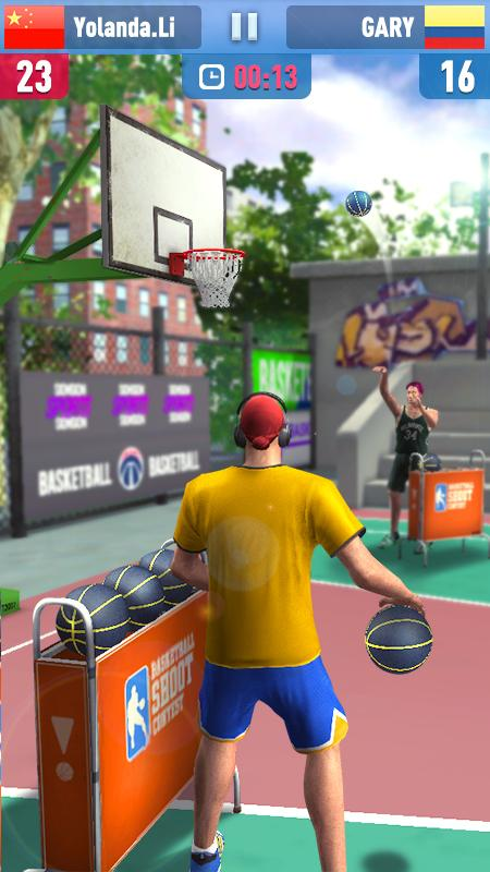 Android Basketball Shoot 3D Screen 3