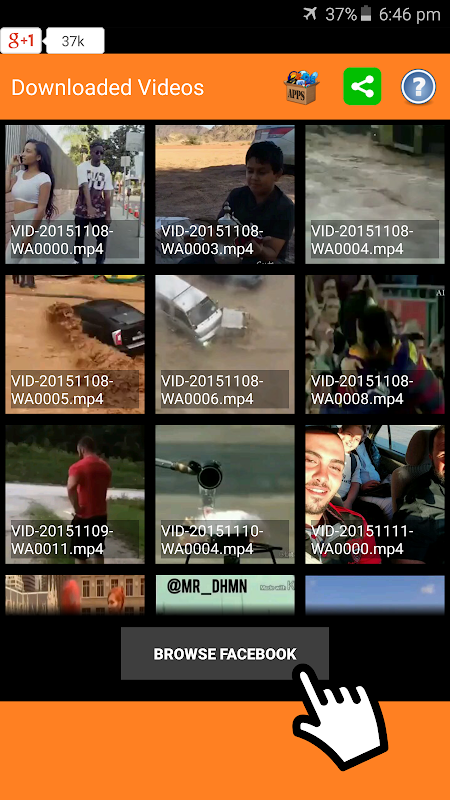 Android Video Downloader for Facebook Screen 1