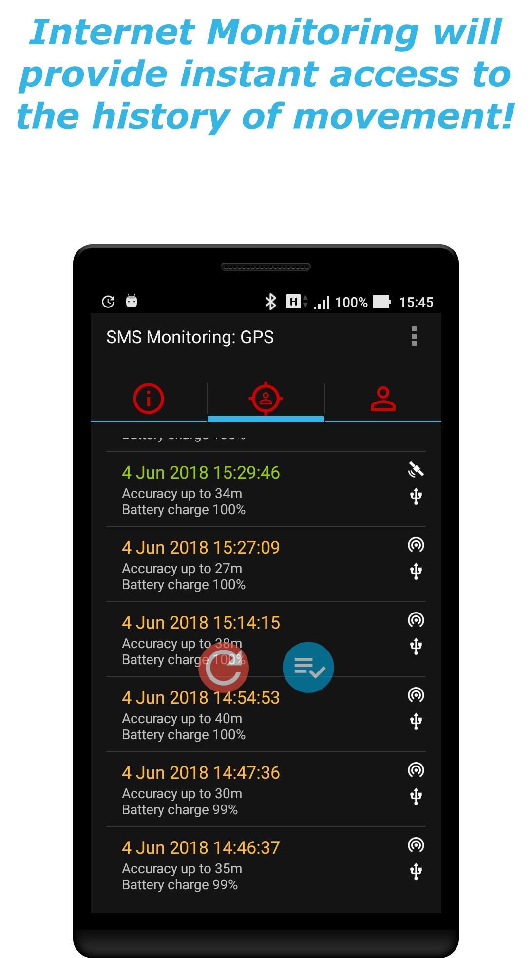 Android GPS Phone Tracker Spy Screen 2