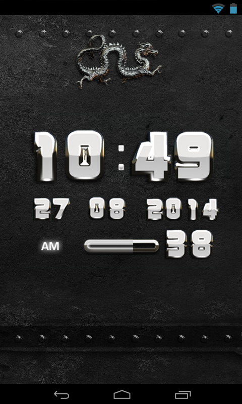 Android Dragon Clock Widget white Screen 3