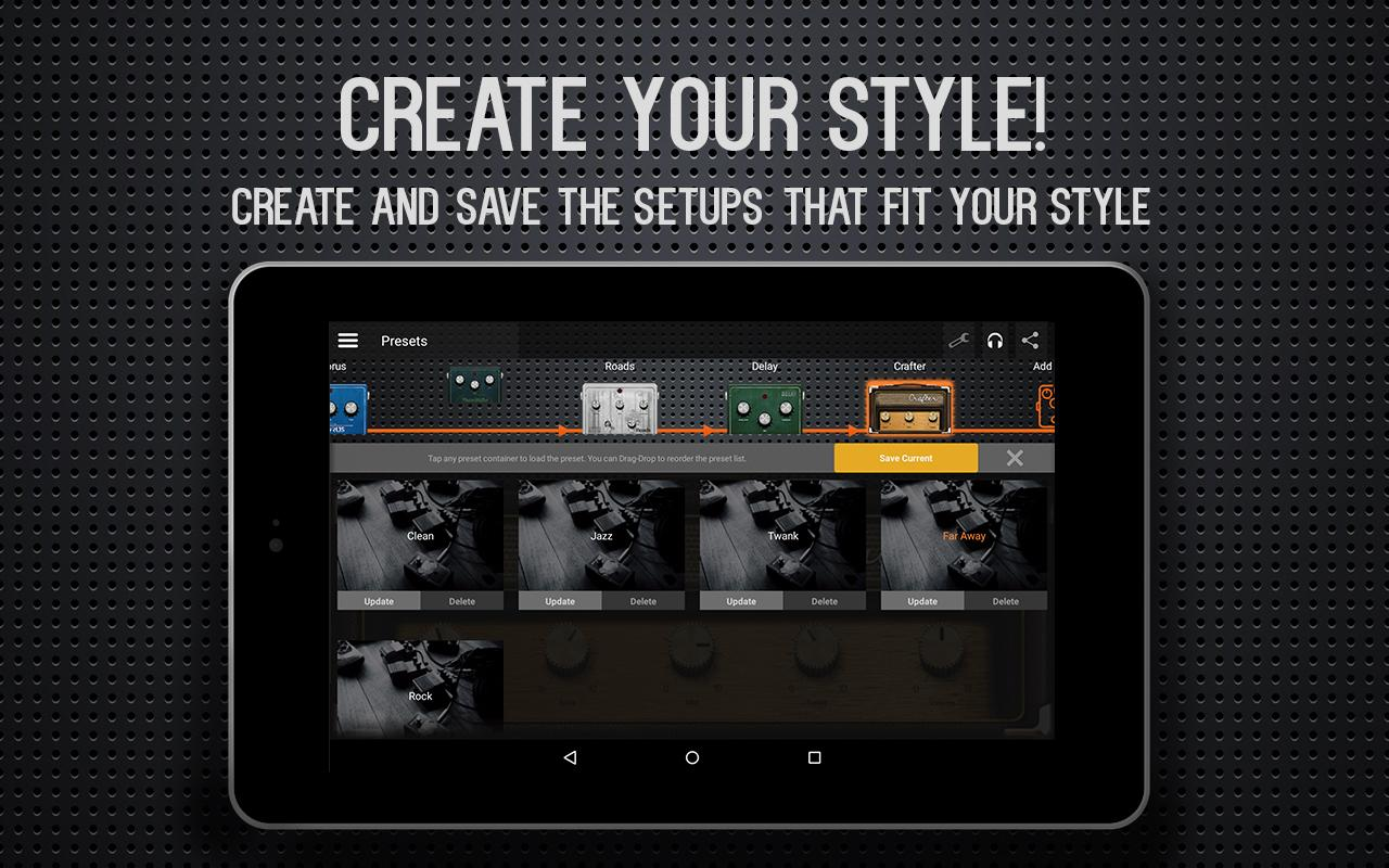 Android Guitar Amp & Effects - Deplike Screen 3