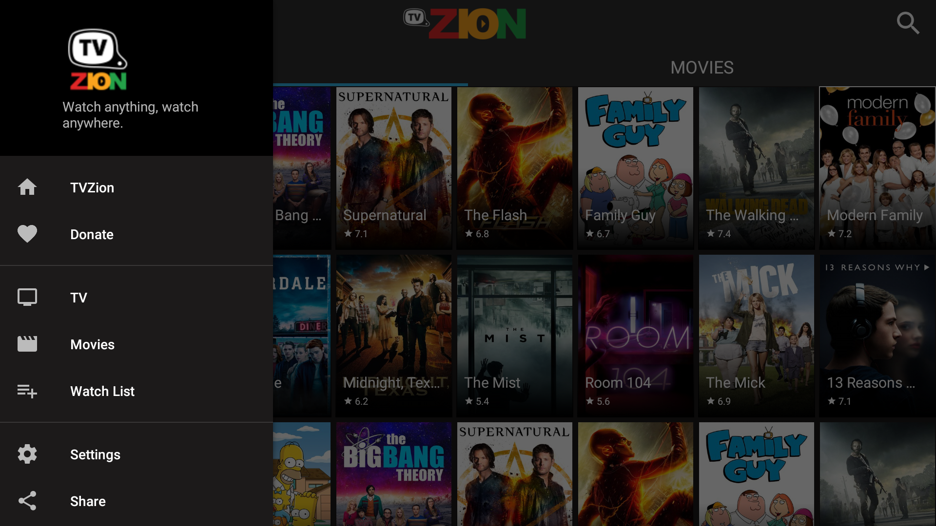 Android TVZion Screen 2