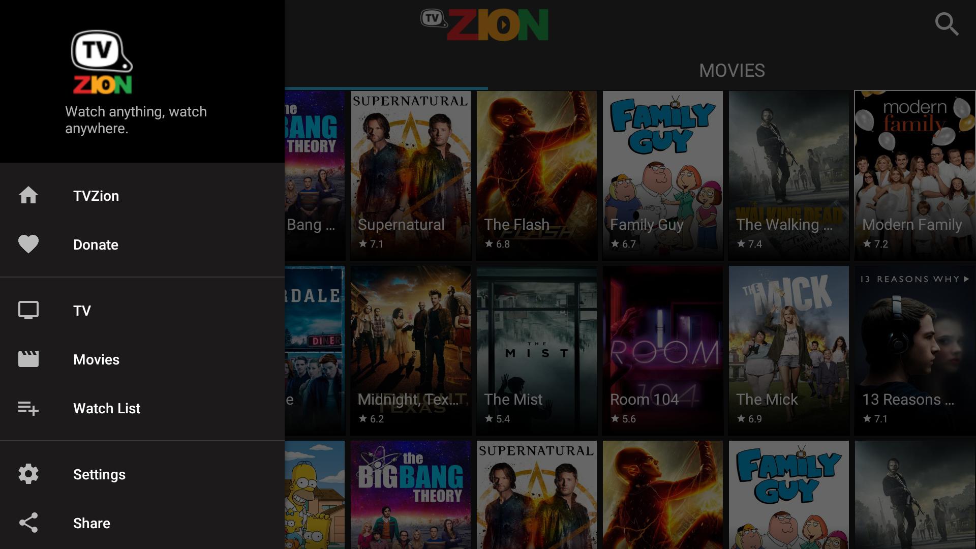 TVZion 1.9 Screen 2