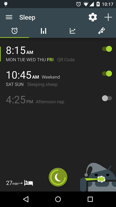Android Sleep as Android Screen 25