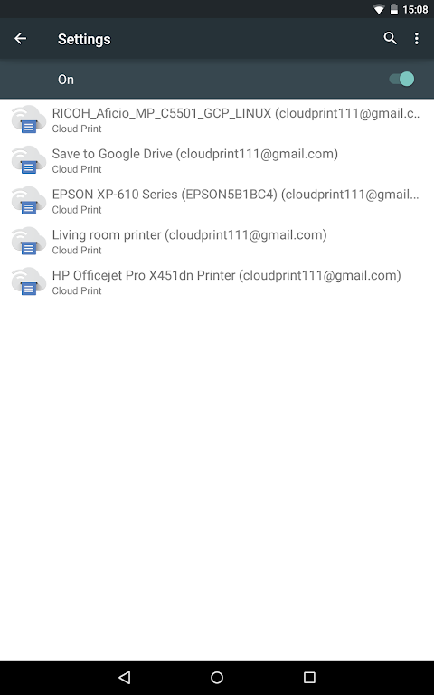 Android Cloud Print Screen 10