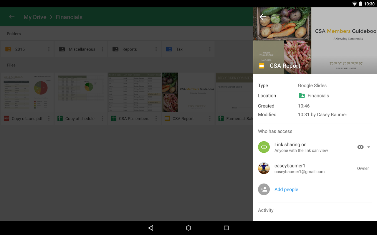 Android Google Drive Screen 11