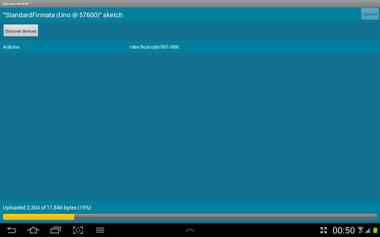 Android ArduinoCommander Screen 7