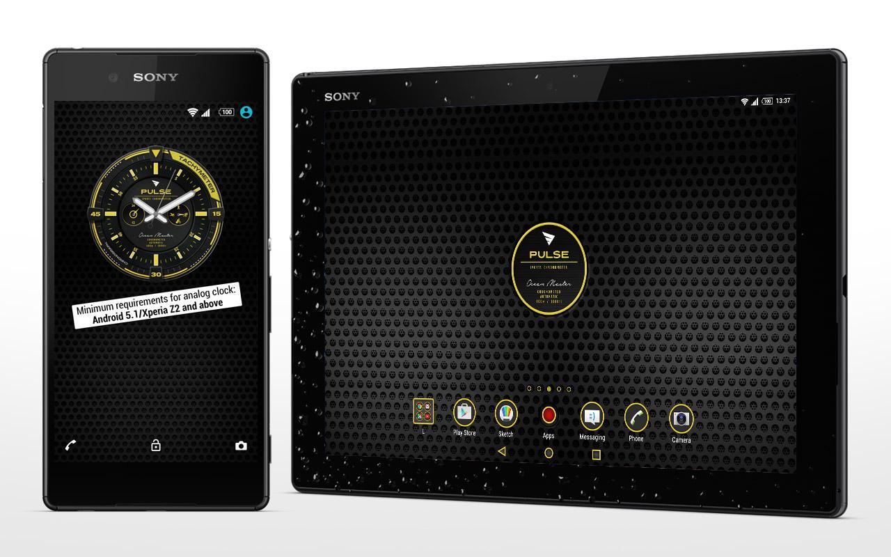 Android XPERIA™ Pulse Chrono Theme Screen 4