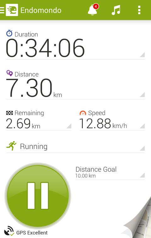 Android Endomondo Sports Tracker PRO Screen 8